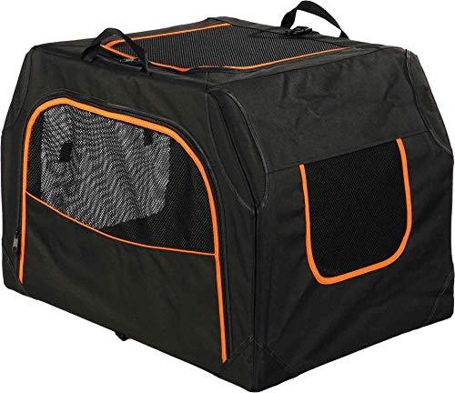 Trixie 39728 Mobile Kennel Extend, erweiterbar, M: 84 × 54 × 55 cm, schwarz/orange
