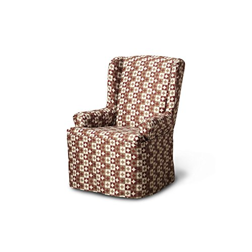 CoverWorks Ayla Wing Chair Slipcover, Red