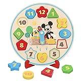WOOMAX - Reloj aprender la hora Formas encajables Reloj niños 3 años - Mi primer reloj Montessori para todos niños niñas Puzzle infantil niños - Juguetes educativos