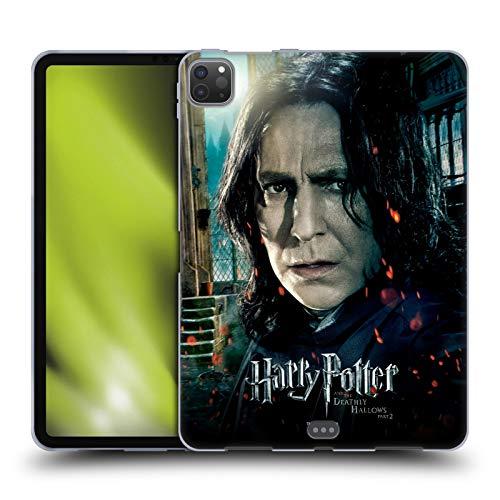 Head Case Designs Oficial Harry Potter Severus Snape Deathly Hallows VIII Carcasa de Gel de Silicona Compatible con Apple iPad Pro 11 (2020)
