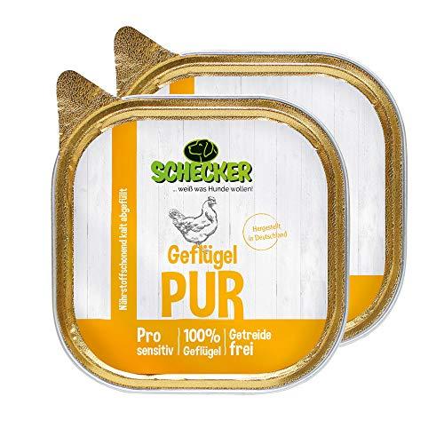 Schecker Dogreform Fleischtopf Hundefutter 6 x 200g Schlächen mit 100% Geflügel glutenfrei getreidefrei ideal auch zum Barfen Nassfutter