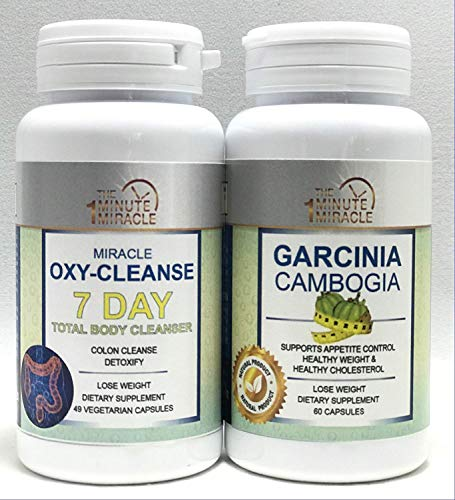 Weight Lose Combo - Miracle OXY Cleanse 7 Day Total Body Cleanser and Garcinia CAMBOGIA