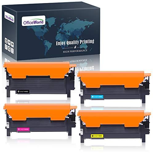OfficeWorld Cartuccia Toner CLT-406S CLT-P406C Sostituzione per Samsung CLT-K406S CLT-C406S CLT-M406S CLT-Y406S Toner per Samsung CLX-3305 CLP-365W CLP-360 CLP-365, Xpress C460FW C410W C460W C460