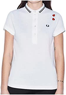 Fred Perry Polos For Women, White 14 UK, Size 14 UK (5835_23345-WHTE)