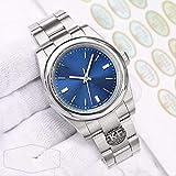 Classic Wristwatch Sapphire Gray Blue Red Dial Designer Men Fashion Watch Mechanical Automatic Eta 2813 Wrist Watch No Date Watches 39mmBlue