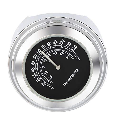 KSTE 22-25mm wasserdichte Motorrad-Lenkerhalter Temp Thermometer Zubehör (schwarz)