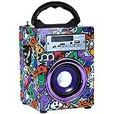 Music Life Altavoz Karaoke con Micrófono Bluetooth Portátil Inlámbrico USB Tarjeta TF Recargable con Radio FM (Modelo12 sin Mic)