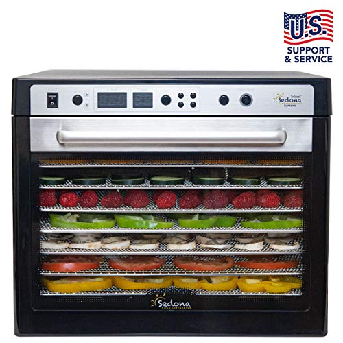 Buy Bargain Tribest Sedona Supreme, SDC-S101-B, Commercial Dehydrator with 9 Stainless Steel Trays 1...