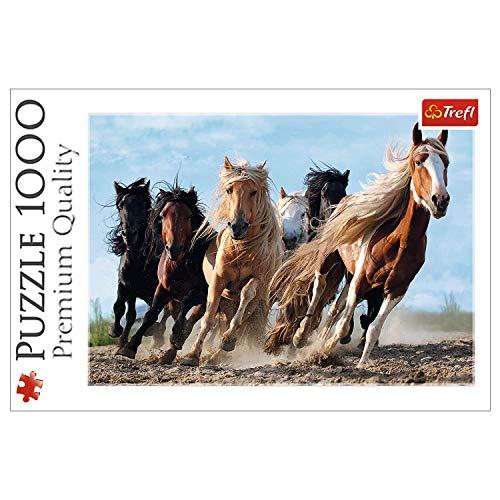 Trefl 10446 Puzzle Die gallopierenden Pferde, 1000 Teile, Farbig
