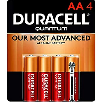 Duracell Quantum AA Alkaline Batteries - Long Lasting All-Purpose Double A battery for Household and Business - 4 count