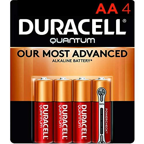 Duracell Quantum AA Alkaline Batteries - Long Lasting, All-Purpose Double A battery for Household and Business - 4 count