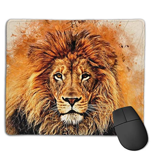 Liquid Lion Mouse Pad ,HD Bright Colors Gaming Mouse Pad Custom Design Mat