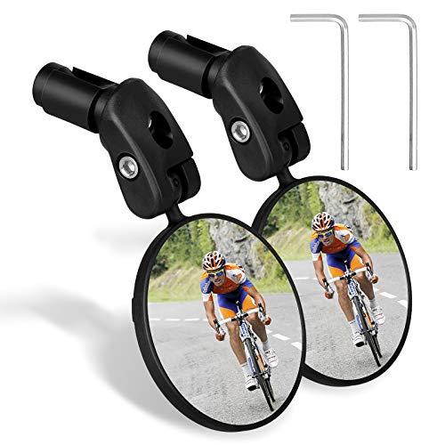 Espejo para bicicleta, 1 par HD de gran angular para bicicleta espejo...