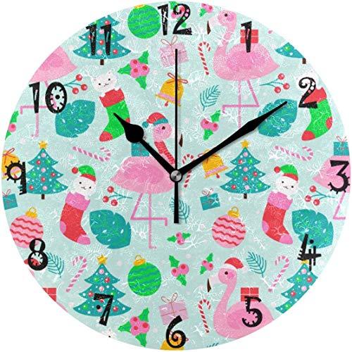 Azalea - Reloj de pared con diseño de león y cabeza circular, silencioso, no se mancha, para cocina, dormitorio, oficina, escuela, niños, niñas, decoración