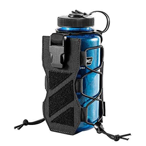 OneTigris Outdoor Trinkflasche Halter Molle Feldflaschentasche 32 Oz Trinkflasche Carrier |MEHRWEG Verpackung (Schwarz - HUNTERZ Flaschenholster)