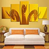 WMQ Pintura de Lienzo Impresa HD 5 Set Godzilla Hot New Movie King Ghidorah Monster Poster Modular decoración del hogar imágenes Arte de Pared