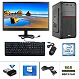 "Desktop Computer Specifications : Gandiva Desktop Computer (Core I3 1st Gen CPU/H55 Board/8GB DDR3 RAM/500GB HDD/USB Keyboard & Mouse/18.5"" Monitor/WiFi) Pre Installed Windows10 & MS Office (Trail Version) and Antivirus (Free Version) Desktop Compute..."