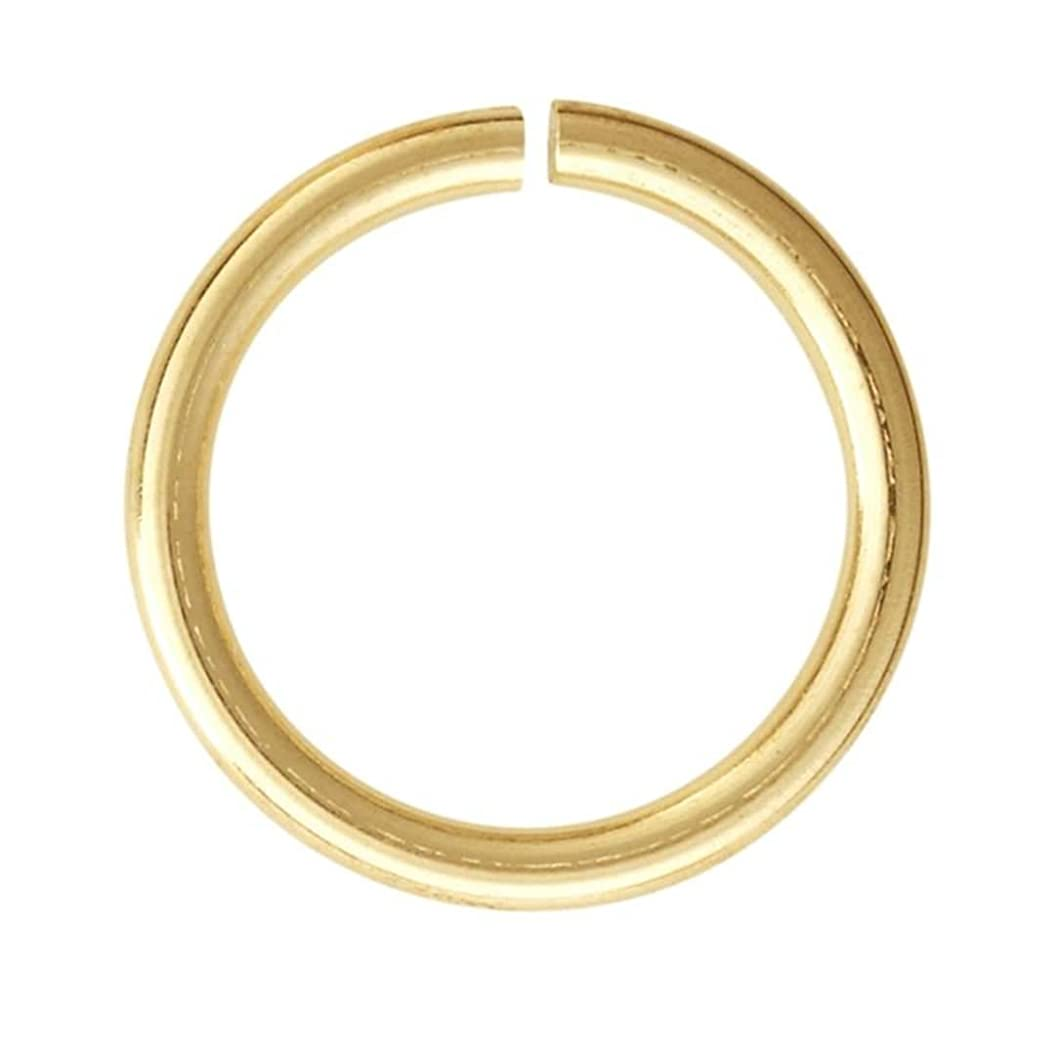 100pcs Top Quality 12mm Open Jump Rings (wire ~21GA or 0.7mm) 14k Gold Plated for Jewelry Craft Making CF168-12
