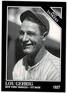 1927 lou gehrig baseball card
