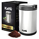 KF2020 Electric Coffee Grinder by Kaffe - Stainless Steel 2.5oz Capacity with Easy On/Off Button....