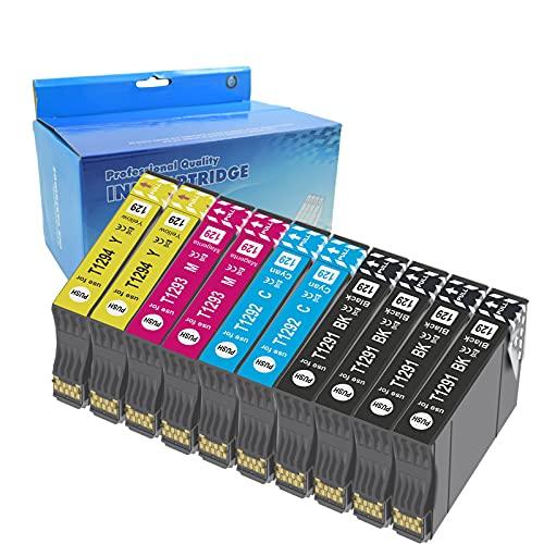 Teng 10X T1295 Cartuchos de Tinta para Epson T1291 T1292 T1293 T1294 Compatible con Epson Stylus SX235W SX425W SX435W SX445W SX535WD BX305FW Plus WF-7515