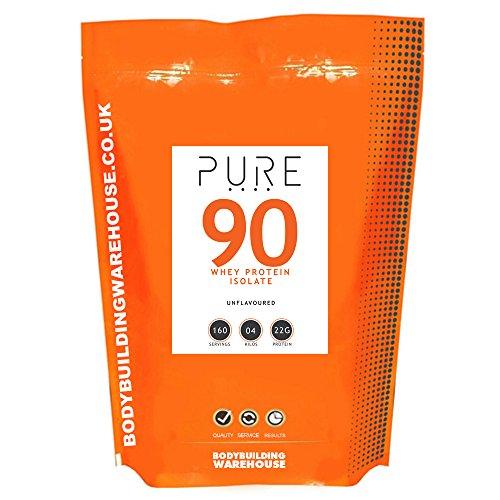 Bodybuilding Warehouse Puro Whey Proteine Isolate 90 Polvere - 4kg
