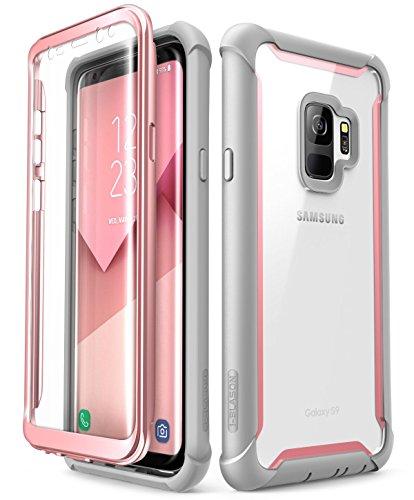 i-Blason Funda Galaxy S9 [Ares] 360 Grados Case Transparente Carcasa con Protector de Pantalla Integrado para Samsung Galaxy S9 2018 Rosa