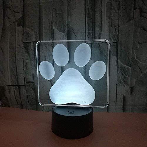 Día de San Valentín Colorido 3D Luz de noche Interruptor táctil Ahorro de energía Lámpara de mesa pequeña Regalo de presentación de diapositivas LED 3D