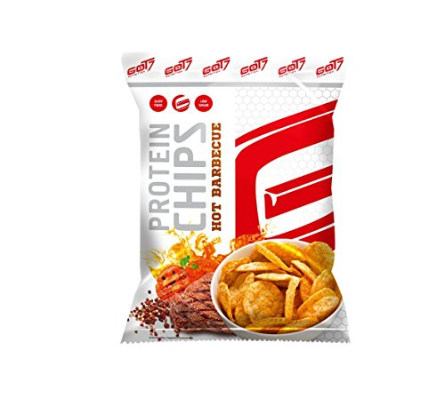 GOT7 High Protein Chips Snack 40% Protein Fitnesssnack – Ideal Zur Diät Fitness Bodybuilding 6x 50g (Hot BBQ)
