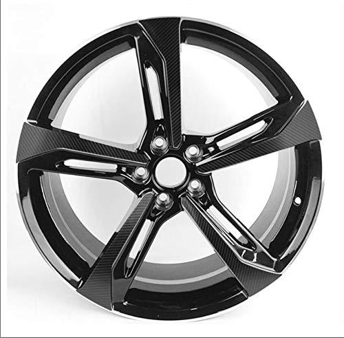 SEHNL 3D Carbon/Mate/Glossy Black Wheel Etiqueta de Rueda para VW Audi RS7 2014-2018 Q7 2019 18'19' 19'19' Película Protectora de Vinilo de la calcomanía de la Rueda Motocicleta Llantas