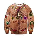 chicolife Unisexo Adolescente Niños niñas 3D navideño Suéter Navidad Regalo Colorida Decoración Pullover Slim Fit para Hombres Mujeres Regalo del Festival