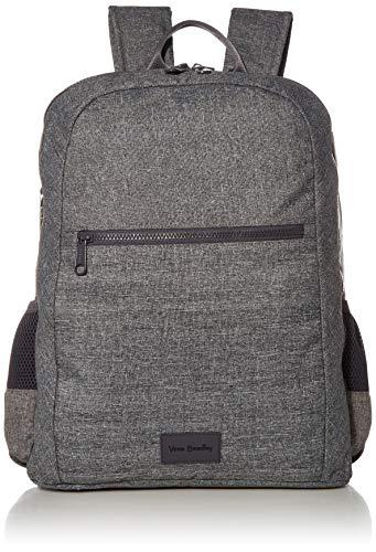 Vera Bradley Women's Recycled Lighten Up ReActive Grand Backpack, Gray Heather, One Size