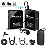 Pixel Wireless Lavalier Microphone - Compact Wireless Microphone System Transmitter and Receiver for Camera,Smartphones,DSLR,Mirrorless and Video Cameras,Mobile Devices YouTube Facebook Live