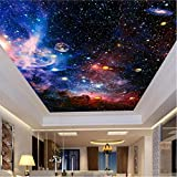Deckengemälde Wallpaper, 3D Cosmic Sternenhimmel Raum Fototapete, ModernLiving Room Theme Hotel Hintergrund Wall Decor Murals