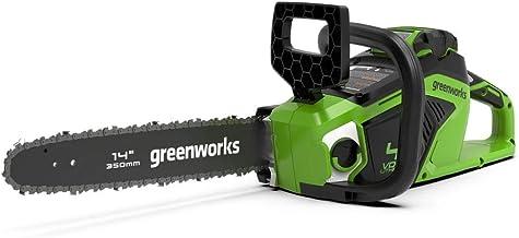 Greenworks Cordless Chainsaw GD40CS15K25 (Li-Ion 40 V 12 m/s Chain Speed 35 cm Blade Length 180 ml Oil Tank Volume Powerfu...