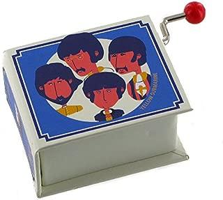 Caja de música / caja musical de manivela de cartón en forma de libro - Yellow Submarine (The Beatles)