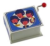 Caja de música/caja musical de manivela de cartón en forma de libro - Yellow Submarine (The Beatles)