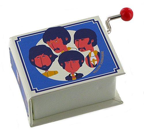 Boîte à musique à manivelle en forme de livre - Yellow submarine (The Beatles)
