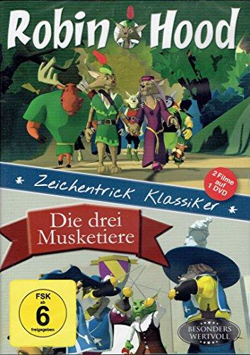 Robin Hood - Die drei Musketiere / Zeichentrick Klassiker - 2 Filme auf 1 DVD