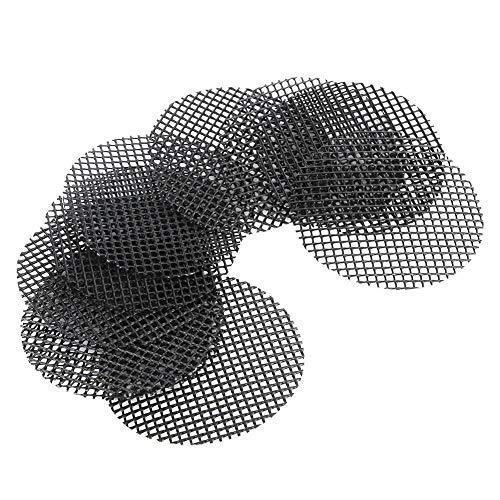 Jeffergarden 10 STÜCKE Blumentopf Netz Mesh Pad Bonsai Hole Mesh Matte Gartenarbeit Verhindert Bodenverlust Blumentopfmatte Loch Mesh Pflanze Blumenerde Bottom Grid Mat(10cm / 3.9in)