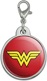 GRAPHICS & MORE Wonder Woman Classic Logo Chrome Plated Metal Pet Dog Cat ID Tag
