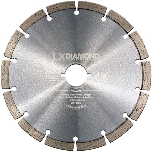 LXDIAMOND Diamant-Trennscheibe 200mm für Beton Mauerwerk Universal Diamantscheibe passend für Lamello Tanga DX200 Fensterfräse