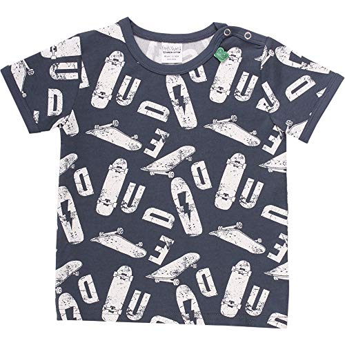 Fred's World by Green Cotton Skate S/s T Baby Camiseta, Azul (Midnight 019411006), 92 para Bebés