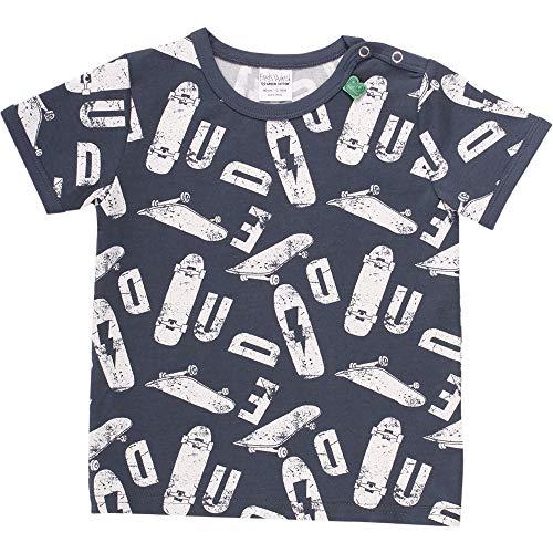 Fred'S World By Green Cotton Skate S/s T Baby T-Shirt, Bleu (Midnight 019411006), 74 Bébé garçon