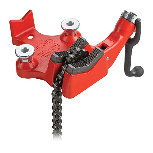 RIDGID 40195 Model BC410 Top Screw Bench Chain Vise, 1/8-inch to 4-inch Bench Vise
