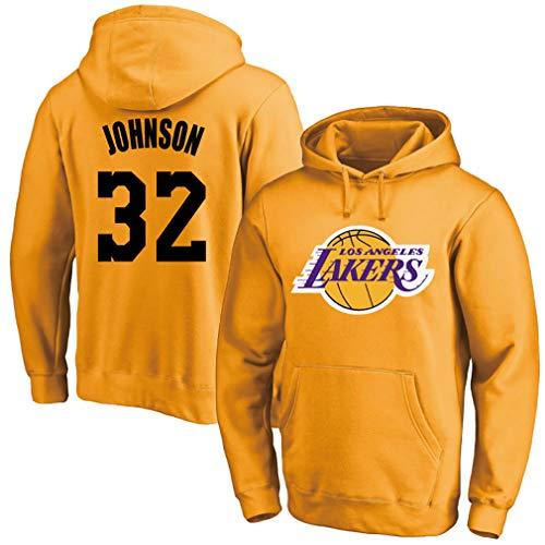 Uniforme de baloncesto masculino, Lakers No. 32 Johnson jersey, ropa deportiva, sudadera conmemorativa,, 123, amarillo, S