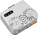 形式:定常光用定点合致式露出計 測光画角:約30°(70~90ミリレンズの画角に相当) 受光素子:シリコンフォトダイオード 測光範囲:EV1(1sec, F1.4)~EV20(1/2000sec, F22) フィルム感度:ISO 25/15゜~3200/36゜ 使用電池:LR44型アルカリ電池またはSR44酸化銀電池2個 サイズ:W42,5mm D37mm H20,1mm(突起部含む) 質量:35,5g