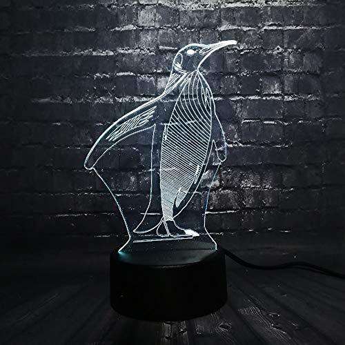 Pinguin 3D illusie lamp LED nachtlampje met 7 kleuren wijzigen en afstandsbediening verjaardag en kerstcadeau voor kinderen slaapkamer decoratieve tafellamp