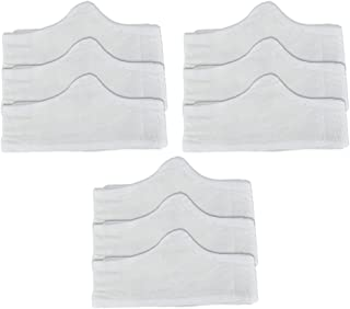 Bamboo & Cotton Bra Liner (White, 9-pk, L) - No Tags, Seamless, Super Soft and Comfortable