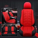 Fundas Asientos Coche Universales para Ford Todos Los Modelos Ecosport Figo Focus Mk2 Fiesta Mk7 S-MAX Mondeo Mk4 Explorer Accesorios Coche Interior-Red Sin Almohada